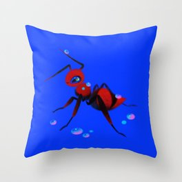 Red velvet ant Throw Pillow