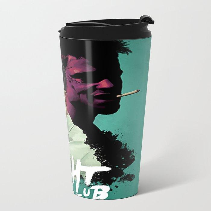 Fight.Club Alternative Movie Poster - Brad Pitt Metal Travel Mug