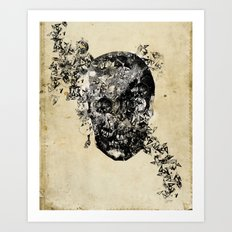 skull crystallisation Art Print