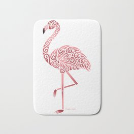 Funky Tribal Flamingo Bath Mat