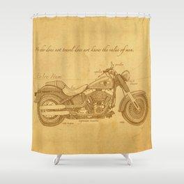 Travel Plan Shower Curtain
