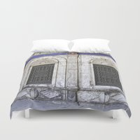 ali Duvet Covers featuring Sultan Ali Mosque - Cairo by CAPTAINSILVA
