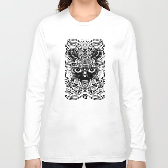 Day Of The Dead Bunny Celebration Long Sleeve T-shirt