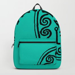 Ancient Egyptian Amulet Turquoise Blue Backpack