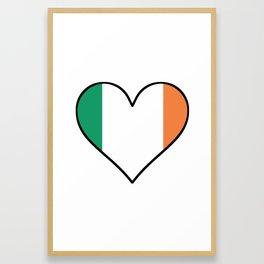 Irish Flag Heart Framed Art Print