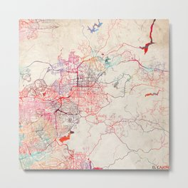 El Cajon map California painting Metal Print