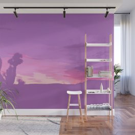 Lavender Joshua Sunset - Pop_Art Wall Mural