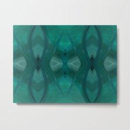 Patterns III Teal Metal Print
