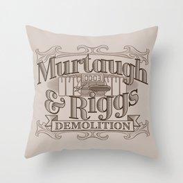 Murtaugh & Riggs Demolition Throw Pillow
