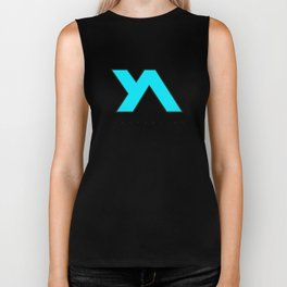 Youth Alive Aqua & Black on White Biker Tank