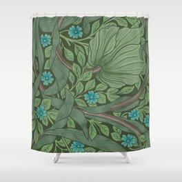 "William Morris ""Forget-Me-Nots"" (""Pimpernel"" detail) Shower Curtain"