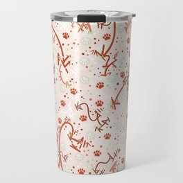 Peppermint Candy Paw Prints Travel Mug