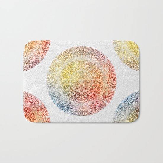 Pastel Rainbow Mandala Bath Mat