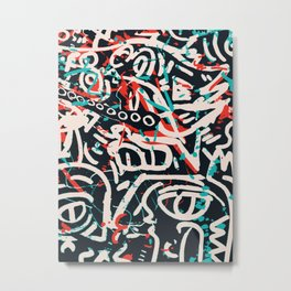Street Art Pattern Graffiti Post Metal Print