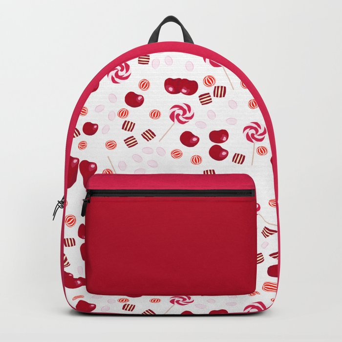 Candy lollipops of cherry Backpack