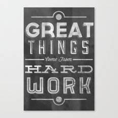 Great Things in Chalk Canvas Print