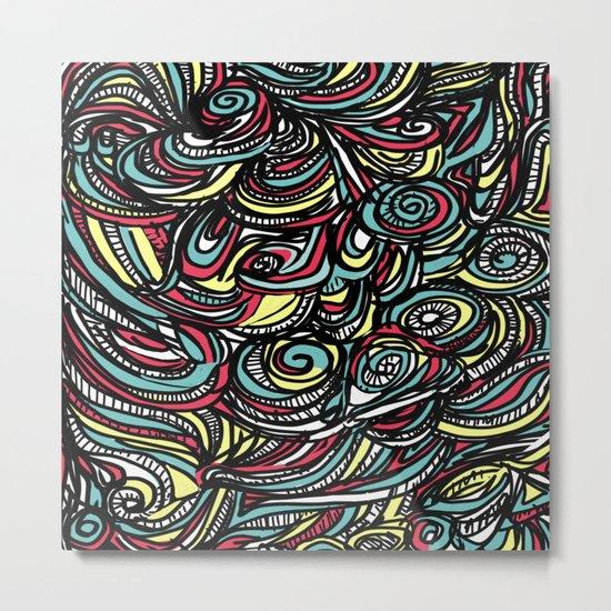 saps pattern - by Tori  Metal Print