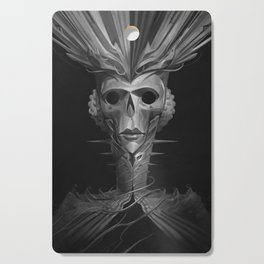 Skeleton Lady Cutting Board