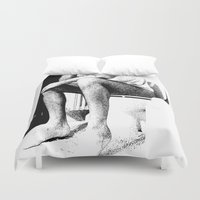 meditation Duvet Covers featuring Meditation by Munzer