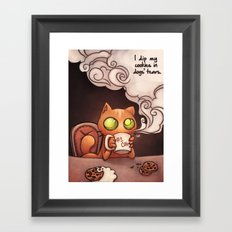 Cookies and cat Framed Art Print