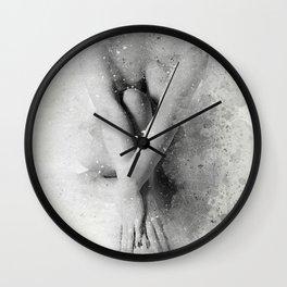 Naked Yoga Watercolor Wall Clock