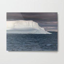Huge Tabular Iceberg floating in Bransfield Strait at sunset,  Antarctica Metal Print