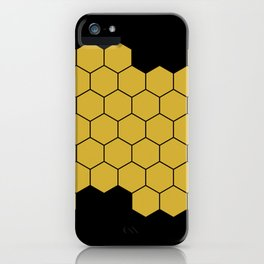 Honeycomb Black iPhone Case