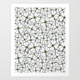 Line art - Clover Art Print