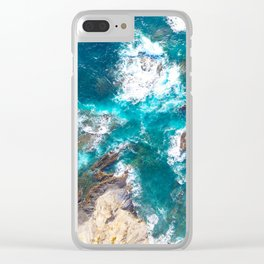 Ocean, deep blue, drone photography, aerial Clear iPhone Case