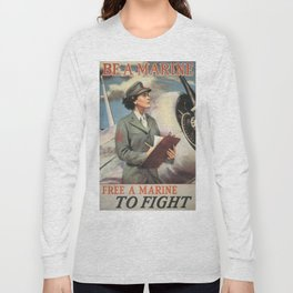 Vintage poster - Be a Marine Long Sleeve T-shirt