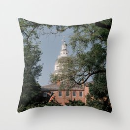Maryland State House Throw Pillow