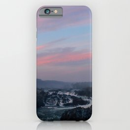 great falls sunset iPhone Case
