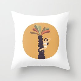 Stare at the sun Throw Pillow