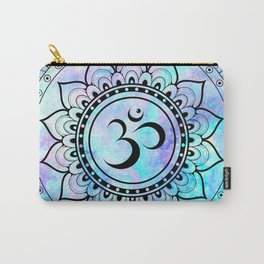 Om Mandala Pink Lavender Aqua galaxy space Carry-All Pouch