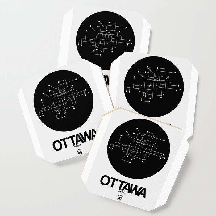 Ottawa Subway Map.Ottawa Black Subway Map Coaster By Naxart