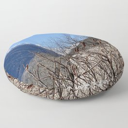Beautiful view on the Montcalm mountains in the Pyrenees Floor Pillow