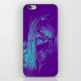 Subdued, teal iPhone Skin