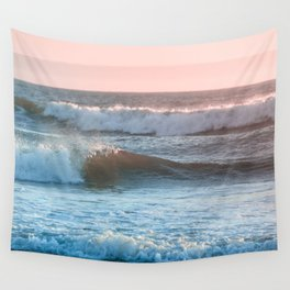 Beach Adventure Summer Waves at Sunset Wall Tapestry