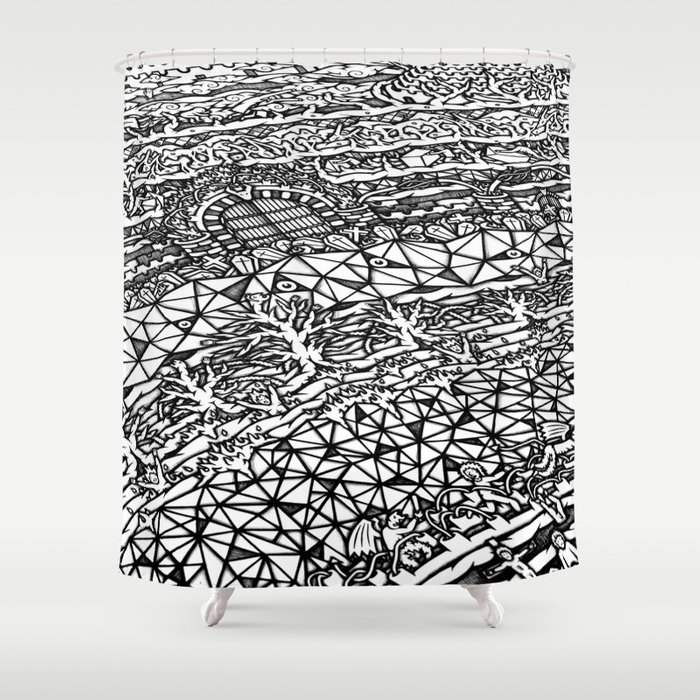Dante S Inferno Artwork Shower Curtain By Badmandala