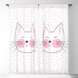 Japanese Kitty Cat Blackout Curtain