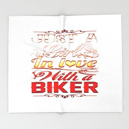 In love with a Biker Throw Blanket