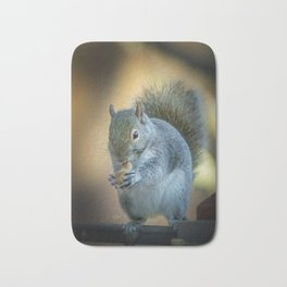 Squirrel and the peanut Bath Mat