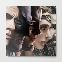 Superman United Metal Print