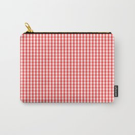 Small White and Donated Kidney Pink Halloween Gingham Check Carry-All Pouch