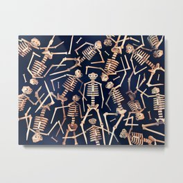 Skeleton Pile! Metal Print