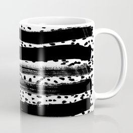 Iver - black and white minimal painting abstract art brooklyn trendy urban street city art work  Coffee Mug