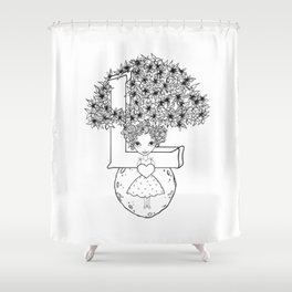 The Letter L Shower Curtain