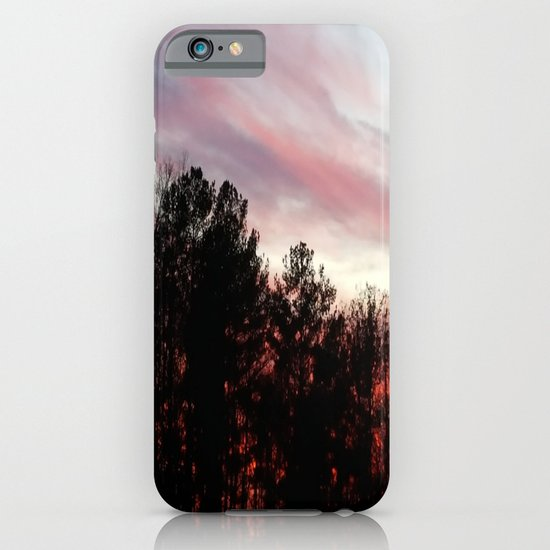 Blood red sunset iPhone & iPod Case
