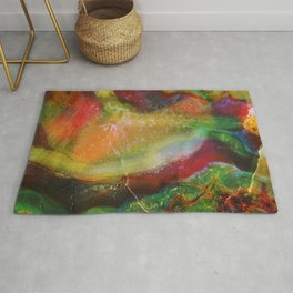 Colorful Abstract marble swirls Rug
