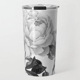 grayscale roses Travel Mug